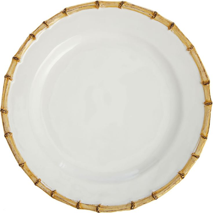 Classic and Natural Bamboo Ceramic Dinnerware Design for Homewares by Juliska – Dinner Plate