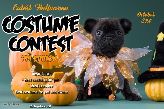 Pet Costume Contests Pet Halloween Party Invitations Pet