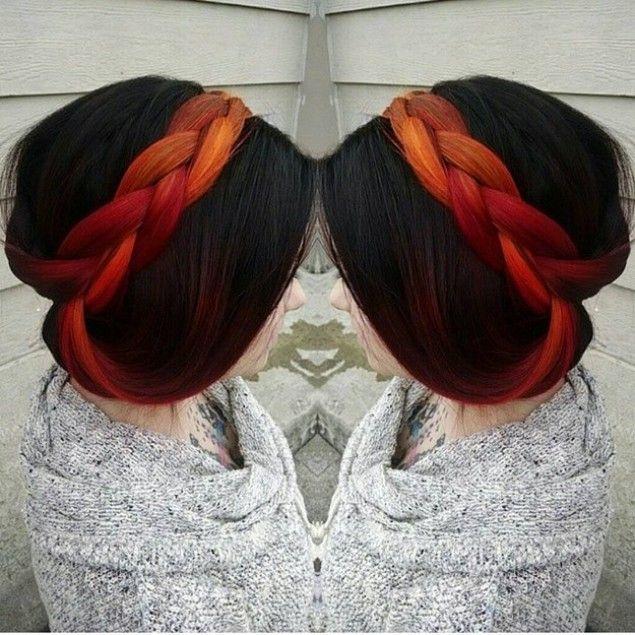 Частично окрашенные волосы — яркая изюминка, способная украсить любой образ