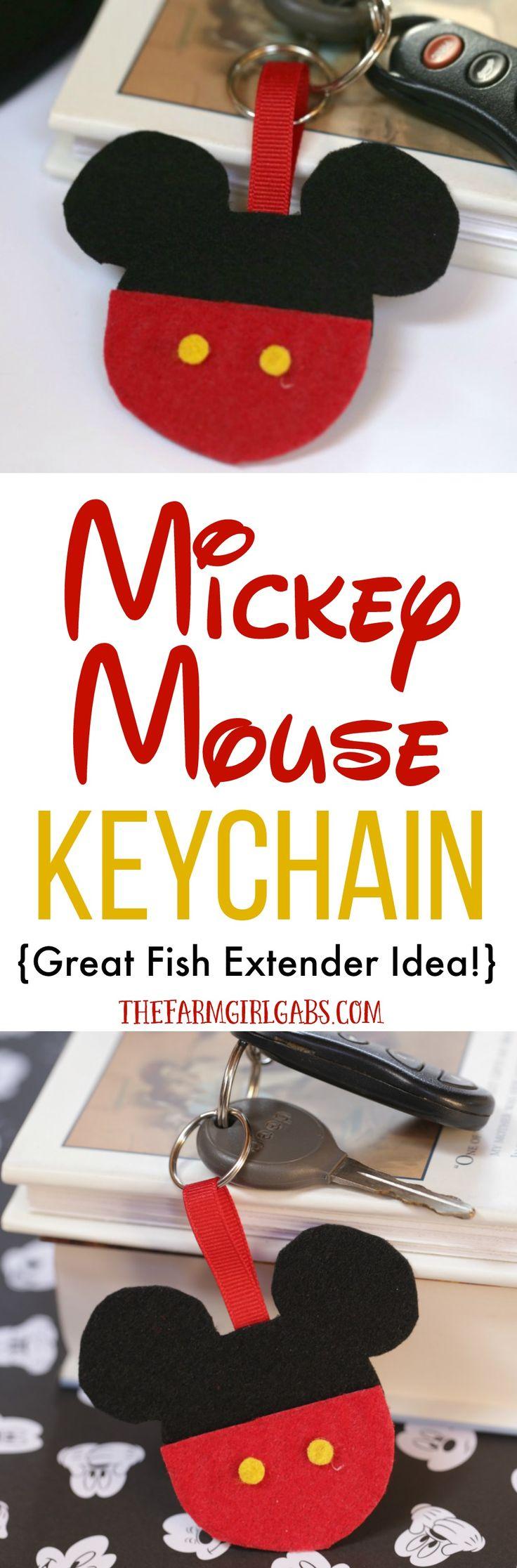 DIY Mickey Mouse Keychain