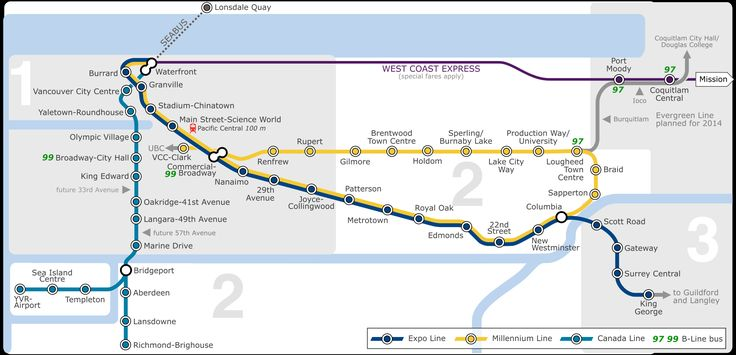Vancouver Skytrain Map Full Size