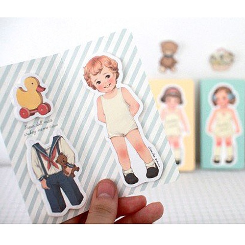 Paper Doll Sticky Notes - Tom