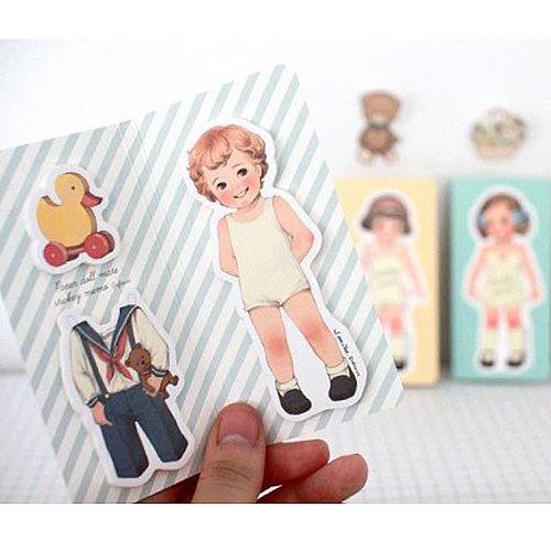 Paper Doll Sticky Notes - Tom