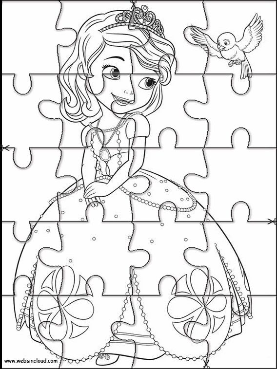 Princesa Sofia 2 Puzzles Rompecabezas Recortables Para Imprimir