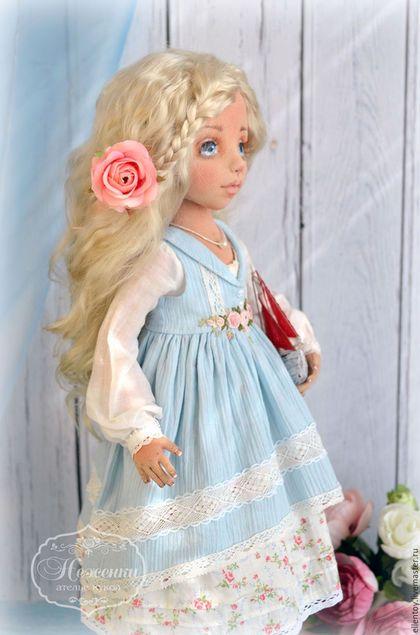 """Коллекционные куклы ручной работы. Заказать Юная Ассоль, текстильная кукла. Елена Негороженко """"Неженки"""". Ярмарка Мастеров. Алый, чудо"""