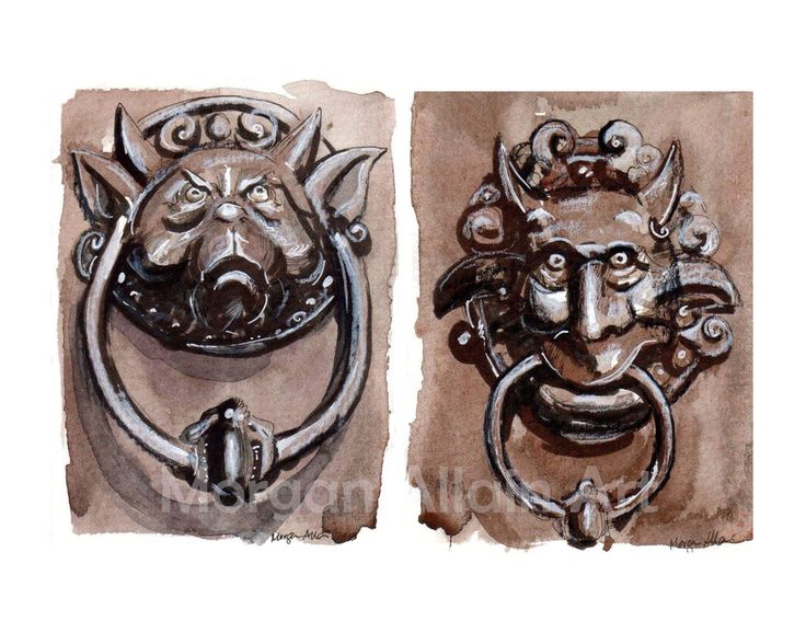 A personal favorite from my Etsy shop https://www.etsy.com/listing/517753757/labyrinth-door-knockers-art-print