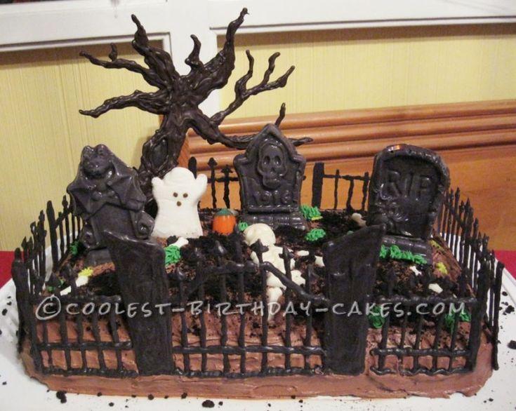 Halloween Cemetery Cake Recipe