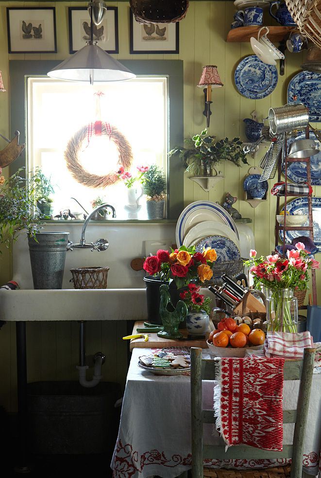 Vintage Yellow Country Kitchen 41 best blue and yellow kitchens images on pinterest | dream