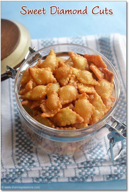 Sweet Diamond Cuts Recipe, nimki for diwali, diwali snacks recipes