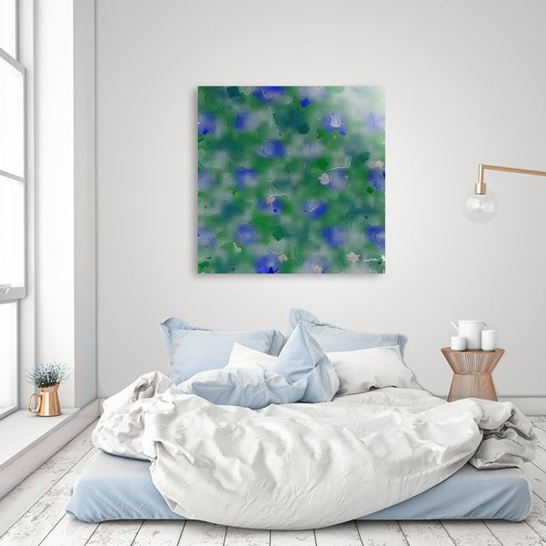 "Discover ""Blue and Green Flying Kites 9759"", Exclusive Edition Acrylic Glass Print by Khoncepts on Curioos"
