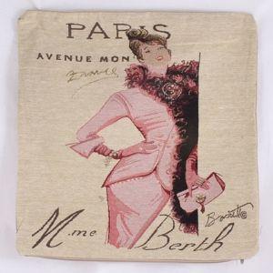Dekorační povlak na polštář Paris, růžová