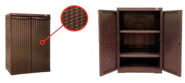 armadio alto in resina copolimera