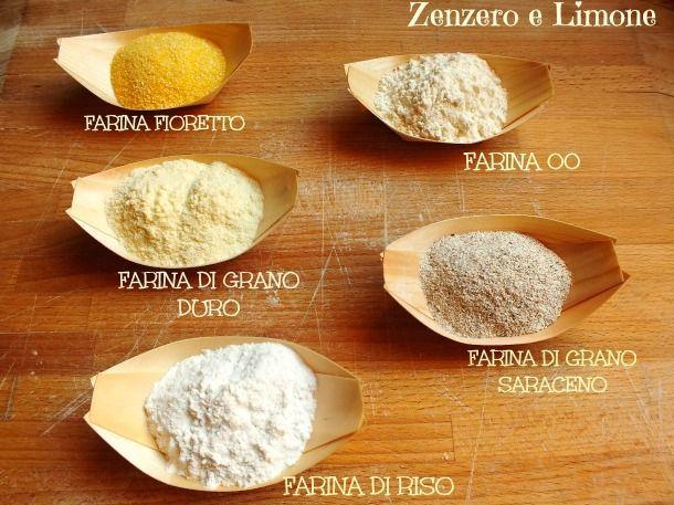 vari tipi di farina