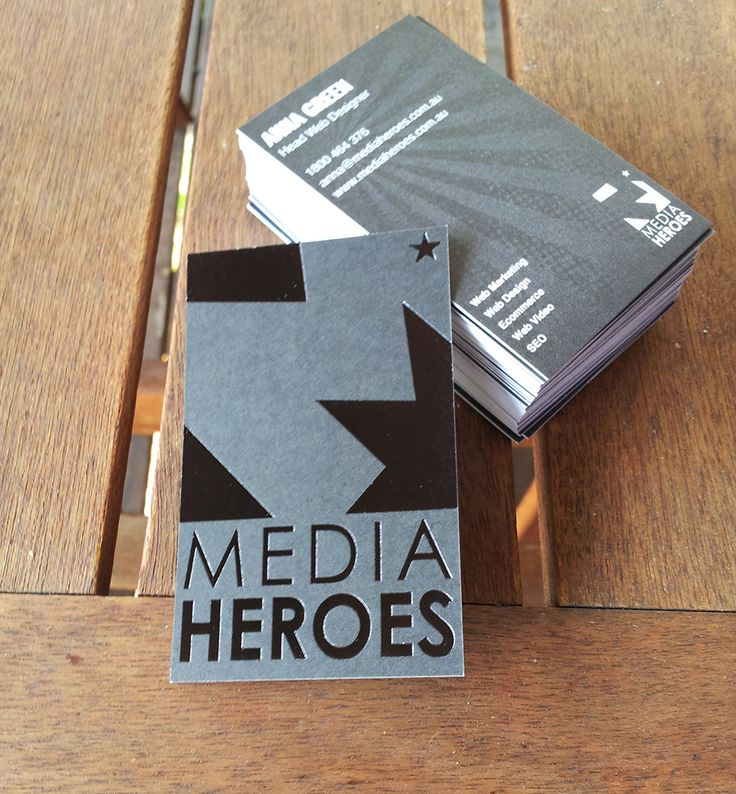 Business cards - Media Heroes