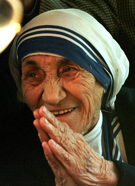 Mother Teresa....kindness and compassion so deeply ingrained.