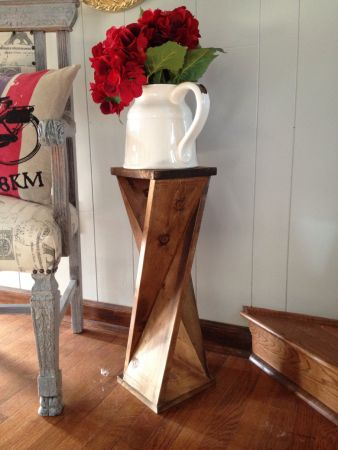 Twisted End Table | Do It Yourself Home Projects from Ana White