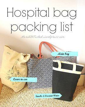 Natural birth - hospital bag packing list! Full list - lots of ideas! #pregnancy #firsttimemom