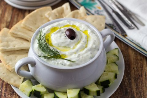 Authentic Greek Tzatziki Dip - learned in Athens!  I have a recipe that I love already, but these techniques are super helpful!!