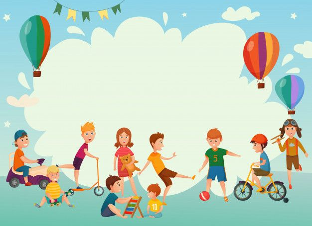 Download Playing Kids Background For Free Kids Background Kids Playing Vector Free