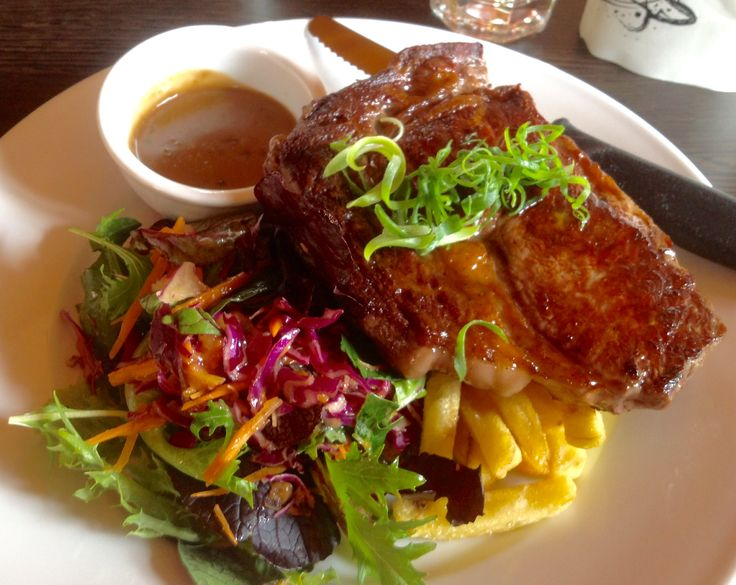 Fillet Steak & Chips & Salad - Bistro One46 - Kangaroo Valley - in the Southern Highlands - purportedly the most beautiful valley in NSW