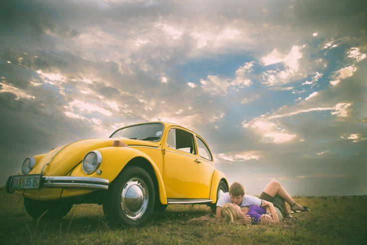 Couple shoot, VW beetle, landscape, love, South Africa