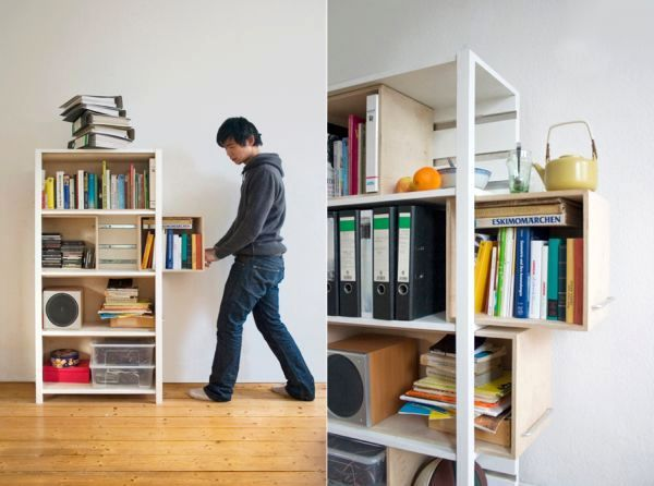 Growing Cabinet by Yi Cong Lu, Space Saving Storage Furniture Design