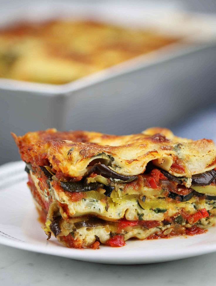 Roasted Vegetable Lasagna - laughing cow cheese sauce @amandarich78