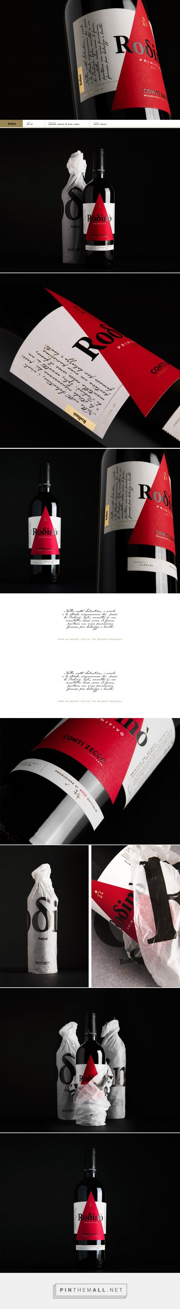Rodinò - Conti Zecca #wine #label design by CaroselloLab - http://www.packagingoftheworld.com/2016/12/rodino-conti-zecca-wine-label.html