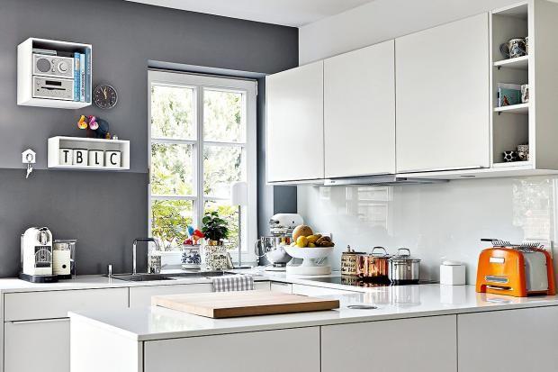 Wohntipps für kleine Räume Kontraste erzeugen Tiefe - kleine küchenzeile mit elektrogeräten