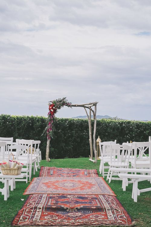 Vintage Afghan Rugs - For Hire at The Wedding Shed for your #ByronBay #Wedding