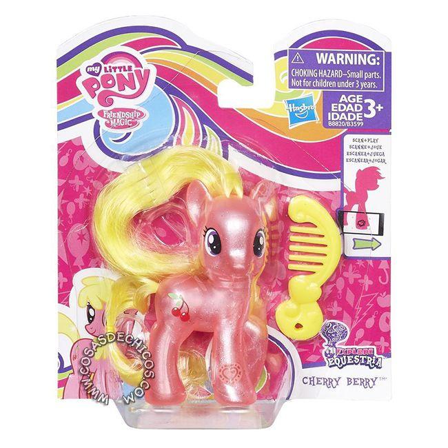 #Figura #MyLittlePony #Explore #Equestria #Cherry #Berry -  #Original #Hasbro.  Imperdible colección, con cuerpo perlado y glitter! Cada figura incluye un peine. Medida: 8 cm. Presentación: Blister cerrado.  Recomendado a partir de los 3 años.  #CosasDeChicos #My #Little #Pony #MiPequeñoPony