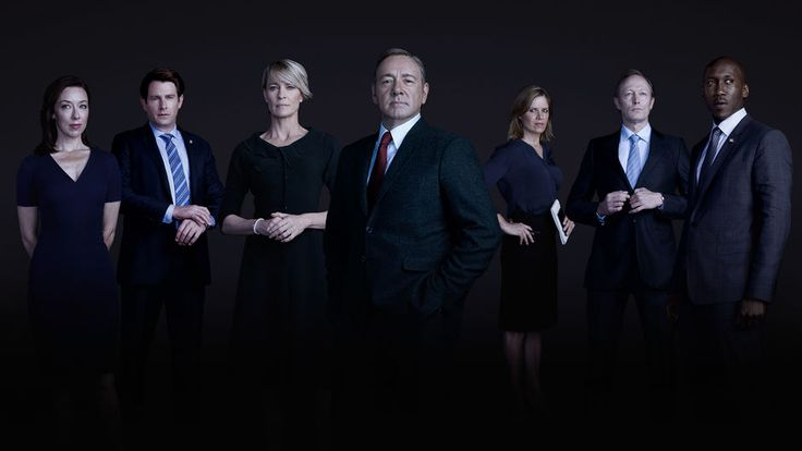 House of Cards, Season 3. Jackie, Seth, Claire, Frank, Kate and Remy