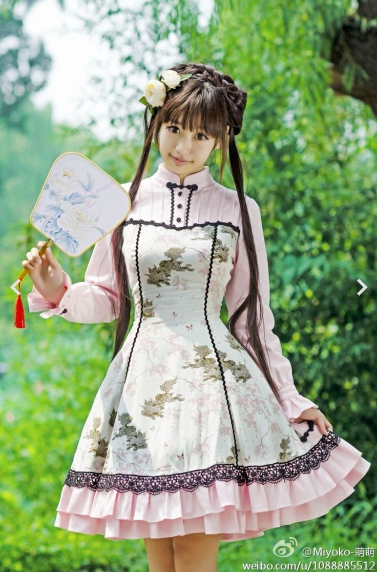 Baby pink Qi-loli. Would look beautiful in another color, as I'm not fond of pink :/  Chinese lolita