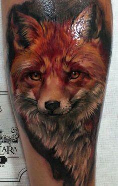 Realistic Fox Tattoo