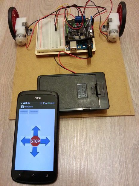 Picture of Arduino bot Android remote control