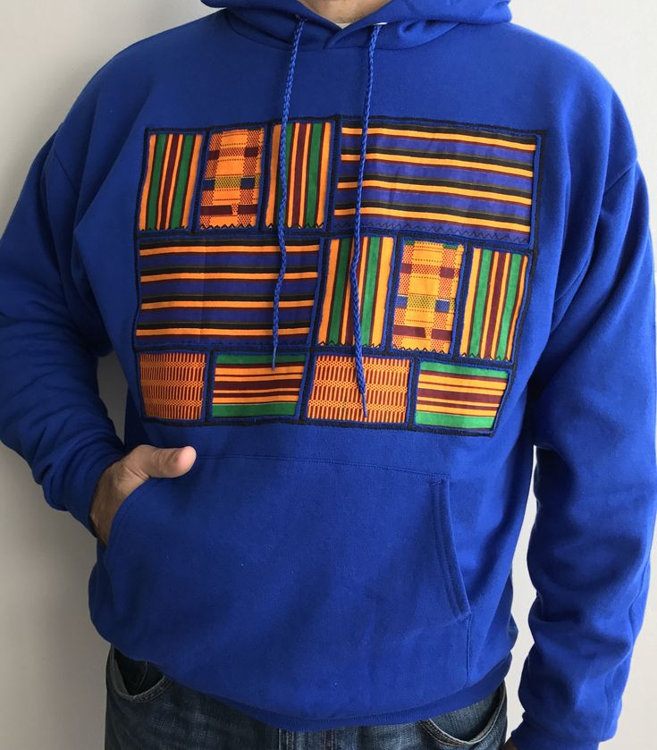 A personal favorite from my Etsy shop https://www.etsy.com/listing/529409435/kente-hoodie-african-shirt-embroidered