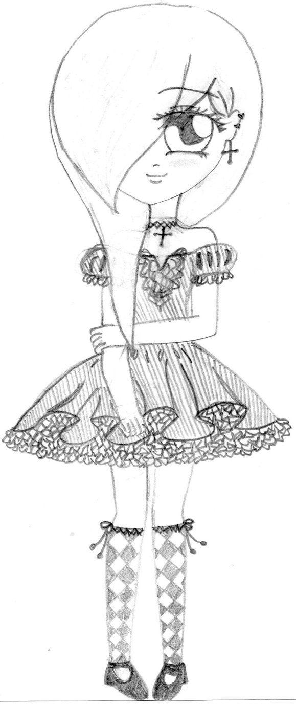 Anime Drawings  Emo Anime Girl By ~animefreakonline On Deviantart