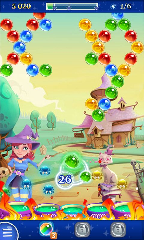Bubble Witch 2 by King - Actionphase Clear the Top - Match 3 Game - iOS Game - Android Game - UI - Game Interface - Game HUD - Game Art