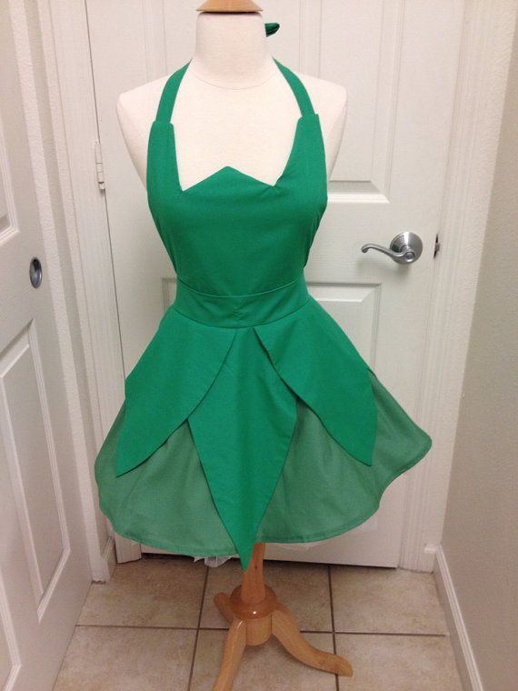Tinkerbell adult full apron by AJsCafe on Etsy, $58.00