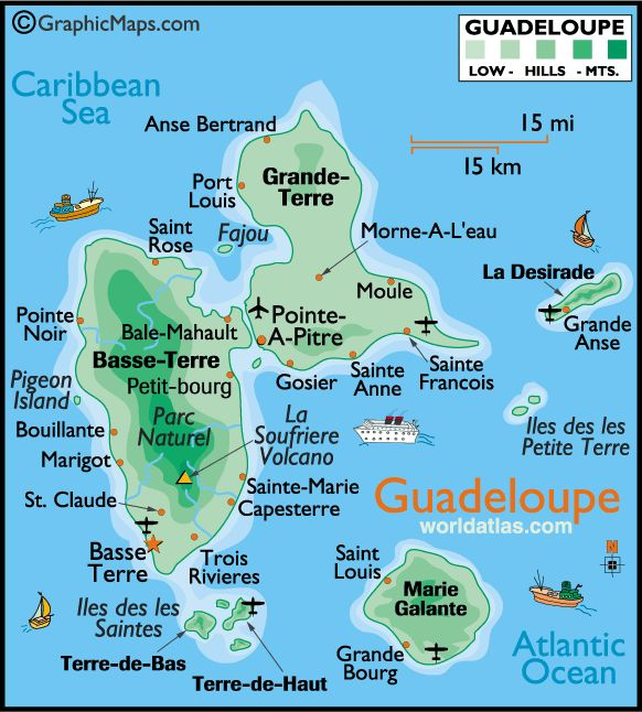 St Marie Island Drive Caribbean Sea