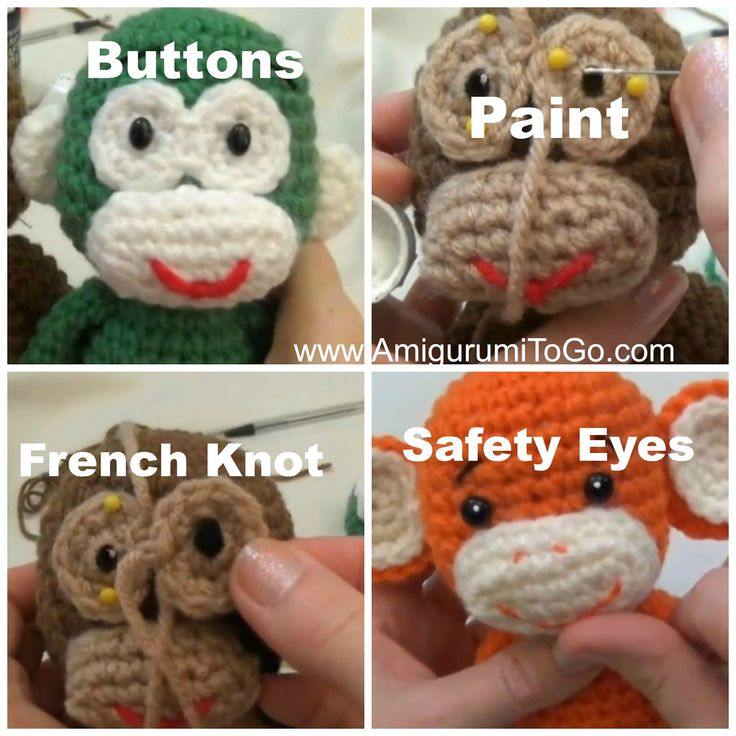 Amigurumitogo Little Bigfoot Monkey : Little Bigfoot Monkey Revised Pattern Video Tutorial ...