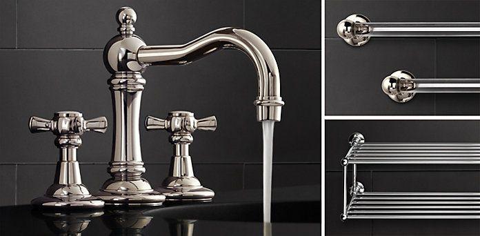 23 best pedestal sinks images on pinterest bathroom for Restoration hardware bathroom faucets