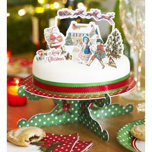 クリスマスケーキトッパー飾り10個セット イギリス デコレーション パーティーグッズ