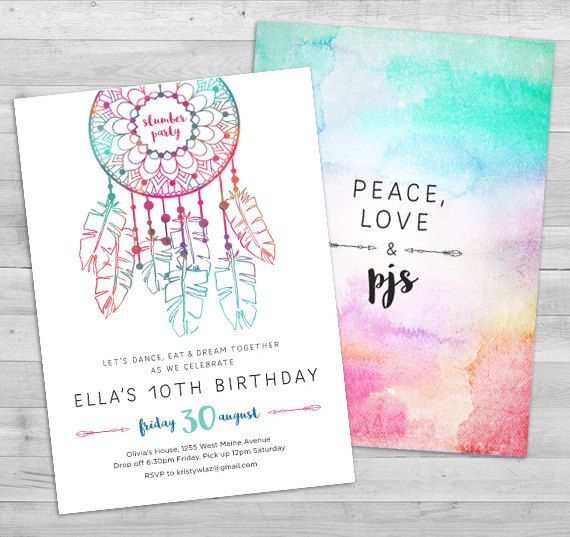 best 25+ slumber party invitations ideas on pinterest | girl, Birthday invitations
