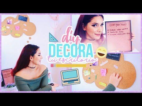 DIY IDEAS PARA DECORAR TU ESCRITORIO O AREA DE ESTUDIO ♥ Jimena Aguilar - YouTube