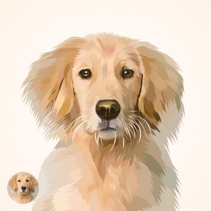 Riskibn I Will Draw Vector Pet In 24 Hours For 5 On Fiverr Com Vector Drawing Dog Vector Pets