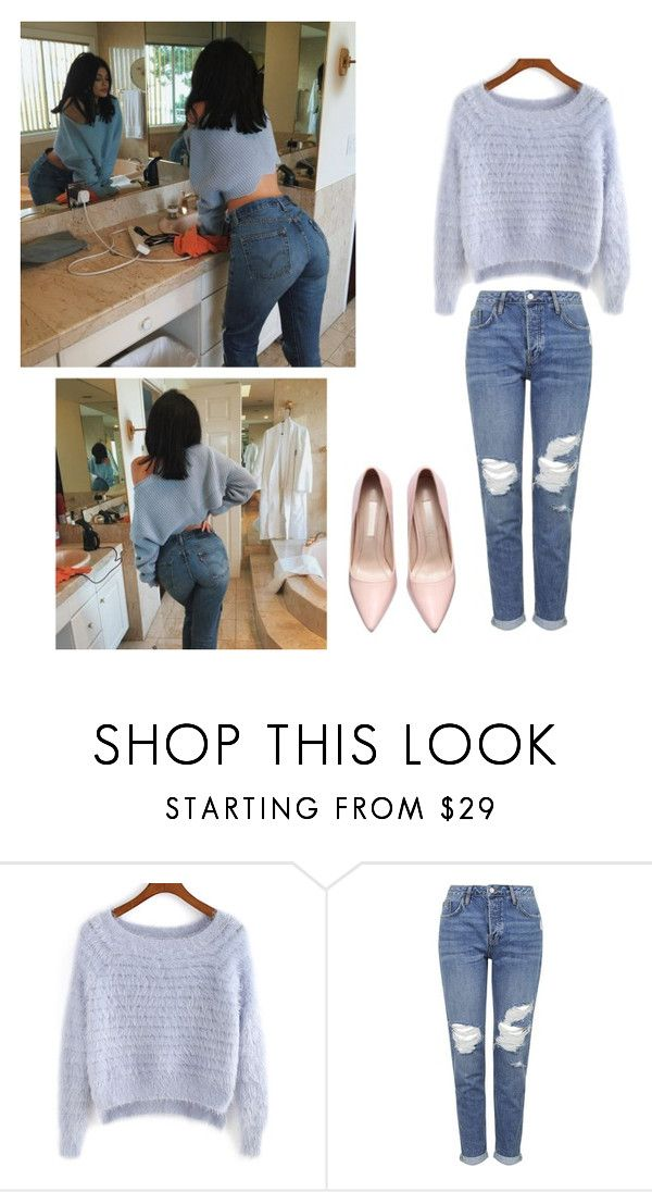 """KYLIE JENNER get the look instagram"" by queenpaola on Polyvore featuring moda, Topshop, women's clothing, women's fashion, women, female, woman, misses, juniors e outfit"