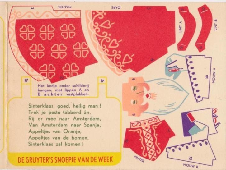 Sinterklaas 'Snoepje van de week' De Guyter