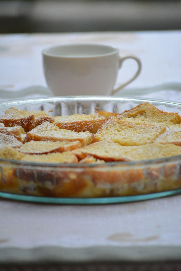 Eggless Bread Pudding Dessert  http://www.flavourbasket.com/2015/04/eggless-bread-pudding-dessert/
