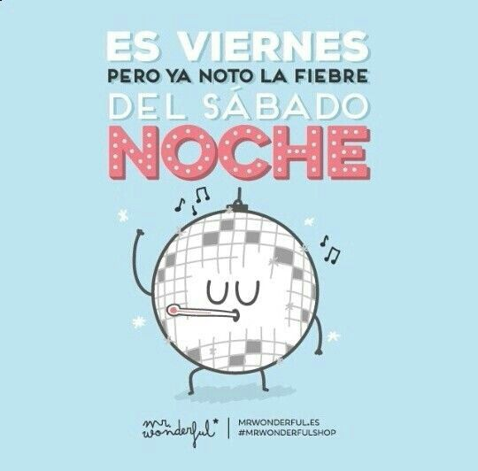 Friday week end mr Wonderful